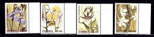 Zambia 566-69 MNH 1992 Orchids    (ap1087)