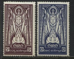 Ireland 1937 5/ &10/ high values unmounted mint NH