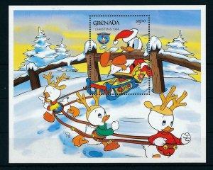 [22510] Grenada 1984 Disney 50th Birthday Donald Duck and Christmas MNH