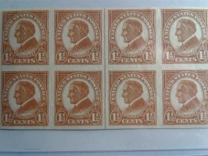 SCOTT # 576 BLOCK OF 8 WITH CENTER LINE INCREDIBLE MINT HR