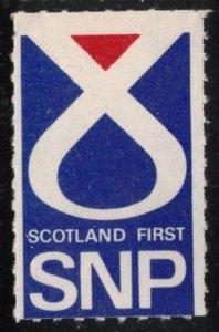SCOTLAND SNP SCOTTISH NATIONAL PARTY SCARCE MNH POSTER STAMP, CINDERELLA