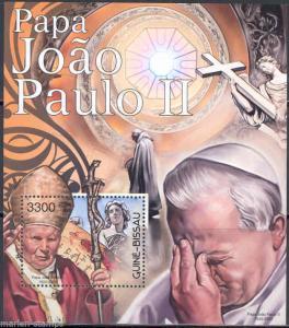 GUINEA BISSAU 2012 POPE JOHN PAUL II  SOUVENIR SHEET MINT NH
