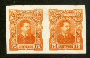 HONDURAS 60 TRIAL COLOR PROOF IMPERF PAIR MNH BIN $5.00 PERSON