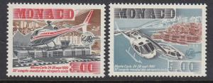 Monaco 1730-1 Europa Airports mnh