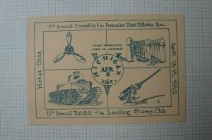 PS PS 4th Annual Convention 11th Annual Expo Lansing Stamp Club 1942 Souvenir AD