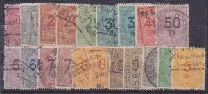 Germany, Preussisch-Hessische Staatseisenbahnen Bar B33-B46. 1906 Freight Stamps