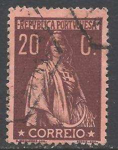 PORTUGAL 225 VFU VERY SCARCE Z4894