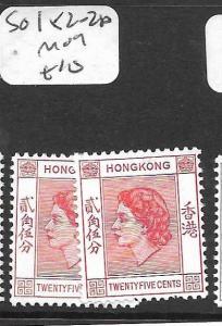 HONG KONG   (P2906B)  QEII  12C  SG 182-182A  MOG