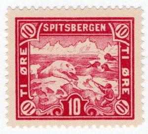 (I.B) Norway Local Post : Spitsbergen 10 Øre