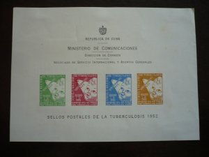 Stamps - Cuba - Scott# RA17-RA20 - Mint Hinged Imperf Post Office Announcement