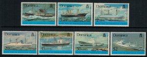 Dominica #434-40a* NH  CV $12.00 Ships complete set & Souvenir sheet