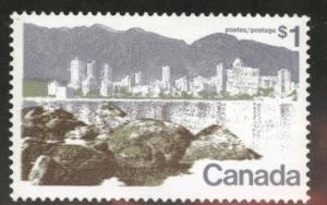 Canada Scott 599a MNH** Vancouver BC stamp 1977 perf 13.5