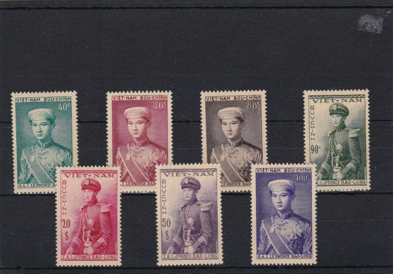 VIETNAM 1952,  CROWN PRINCE.  FULL SET , UNMOUNTED MINT WITH FULL GUM  . REF 10