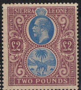 Sierra Leone 1912-1924 SC 120 Mint SCV $950.00