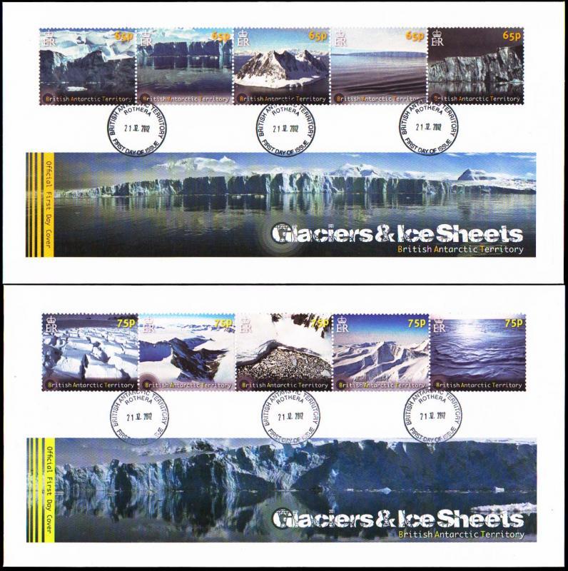 British Antarctic Territory Scott 433-434 Unaddressed.
