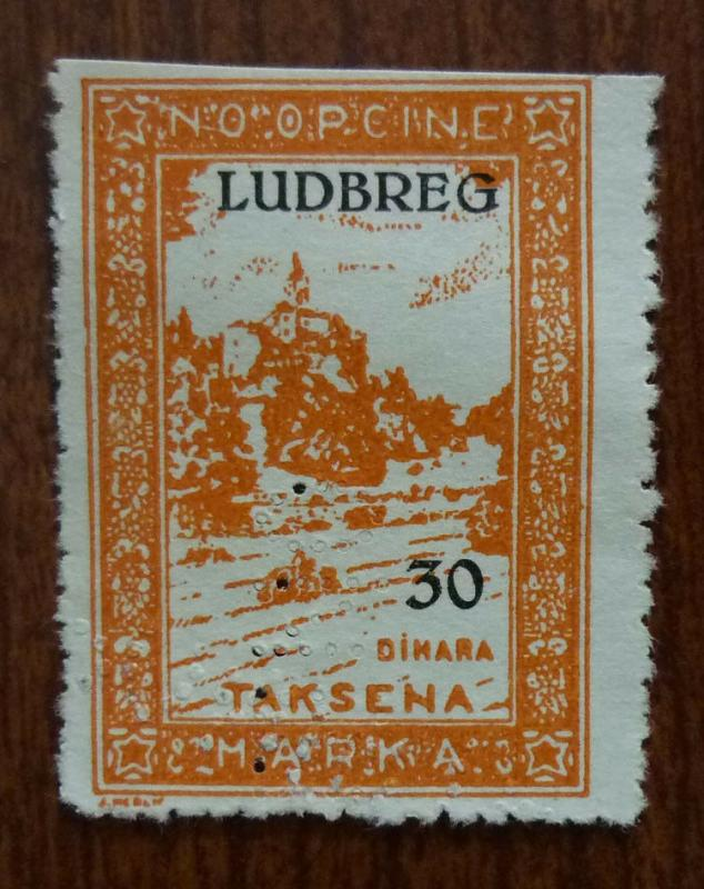 Croatia in Yugoslavia Local Revenue Stamp LUDBREG! J1