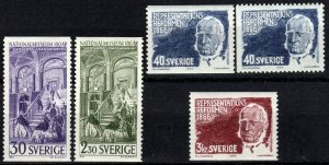 Sweden #699-703  F-VF Unused CV $6.15 (X5718)
