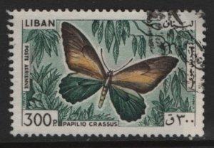 LEBANON, C435, USED, 1965, Papilio Crassus