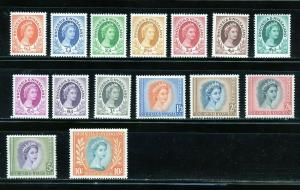 RHODESIA & NYASALAND QE II SCOTT#141/55  SG#1/15   MINT NEVER   HINGED