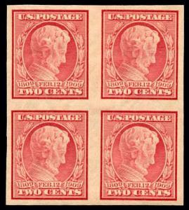 momen: US Stamps #368 Mint OG Block of 4 XF