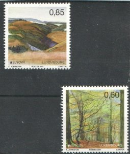 2011   LUXEMBOURG - SG:1920/21 - EUROPA - YEAR OF FOREST -  UNMOUNTED MINT