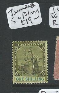 TRINIDAD  (P2206B) 1/- SG 131  MOG