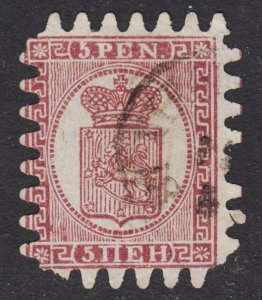 Finland Scott 6b type III VG used. Signed on the back.