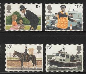 Great Britain 1979 London Police set  MNH sc 875 - 878