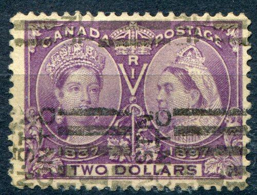 Canada #62  Used  F- VF signed