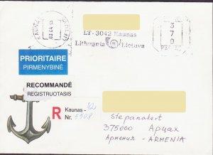 LITHUANIA LIETUVA REGISTERED COVER TO KARABAKH ARTSAKH ARMENIA 2003 R16289