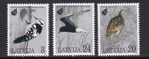 Latvia MNH 396-8 Bird Conservation 1995