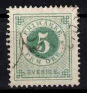 Sweden - SG18d (?) - 5ö ring type perf 13. CV 1.30£ (approx 1.5 Eur)