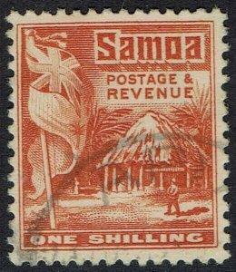 SAMOA 1921 HUT 1/- USED