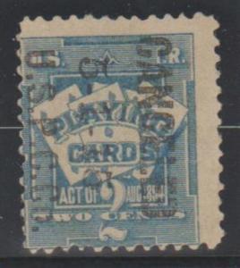 U.S. Scott #RF4 Playing Card - Cat $65 - Revenue Stamp - Used Single