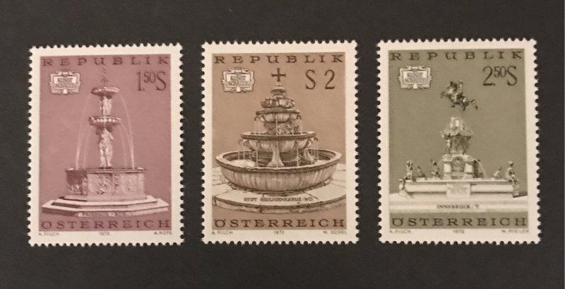 Austria 1972 #916-18, MNH, SCV $1.15