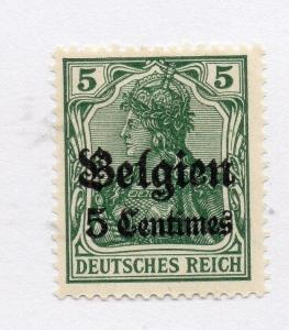 GERMANY BELGIUM OCC 1914 Issue Fine Mint Hinged 5c. Surcharged Optd 285814