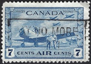 Canada #C8 7¢ War: Student Flyers (1943) Airmail. Fine centering. Used.