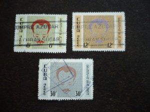 Stamps- Cuba- Scott# C219-C221 -Used Set of 3 Stamps