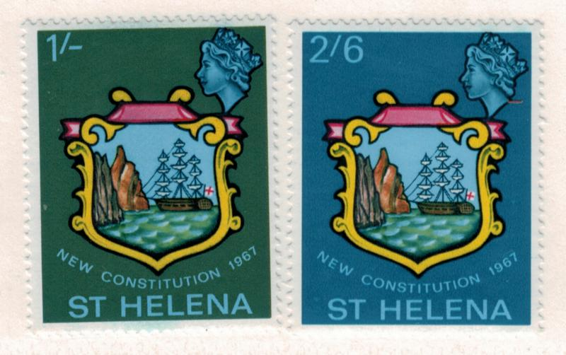 St. Helena Scott #195 To 196, St. Helena's New Constitution Issue From 1967