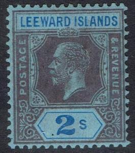 LEEWARD ISLANDS 1912 KGV 2/- WMK MULTI CROWN CA