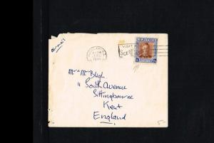 1949 - New Zealand Cover Mi. 296 - To Kent [B06_130]