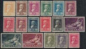 Spain #386-402* CV $35.20