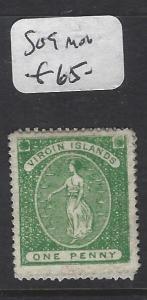 VIRGIN ISLANDS (P2105B)  VIRGIN 1D  SG 9   MOG