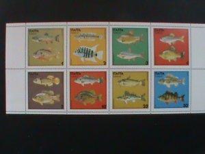 STAFFA SCOTLAND STAMP:FISHES- MNH - MINI SHEET RARE