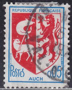 France 1142 USED 1966 Arms of Auch