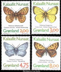 Greenland Scott 315-318 Mint never hinged.