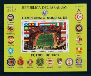 [60727] Paraguay 1979 World Cup Soccer Football Argentina A Sheet MNH