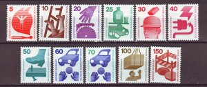 J22351 Jlstamps 1971-3 berlin germany set mh #9n316-25 accident prevention