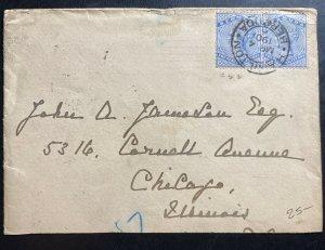 1901 Hamilton Bermuda Cover To Chicago IL USA