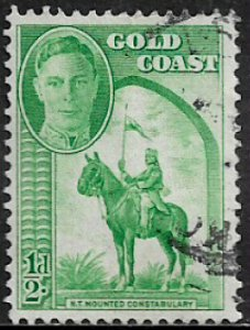 Gold Coast #130 Used Stamp - Mounted Constable